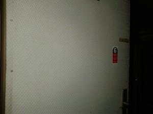Porte habillée d'un panneau amiante de type Pical