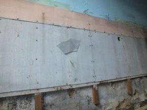 Plaques murales en amiante ciment