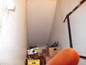 Revêtementmural contenant de l'amiante utilisé comme tapis